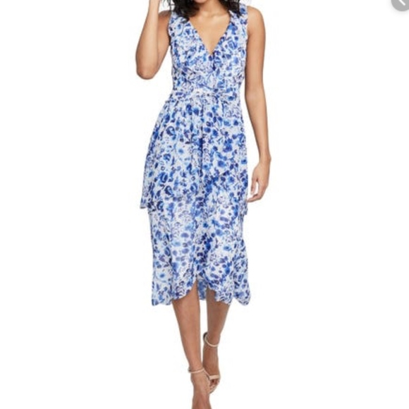 RACHEL Rachel Roy Dresses & Skirts - Rachel Rachel Roy Floral High-Low Ruffle Dress